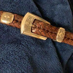 Brighton brown braided belt